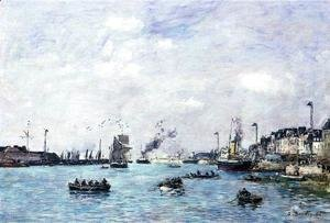 Eugène Boudin - Le Havre, The Outer Harbor I