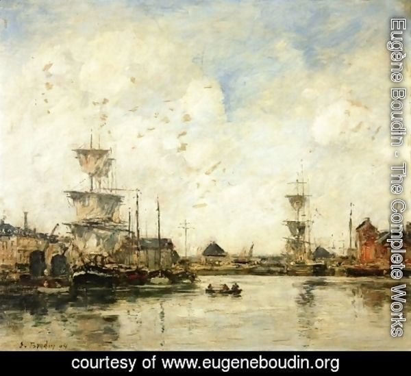 Eugène Boudin - Fecamp, the Harbor