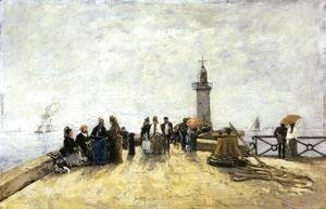 Eugène Boudin - Honfleur, the Jetty I