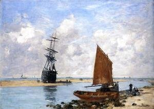 Eugène Boudin - The Trouville Chanel, Low Tide