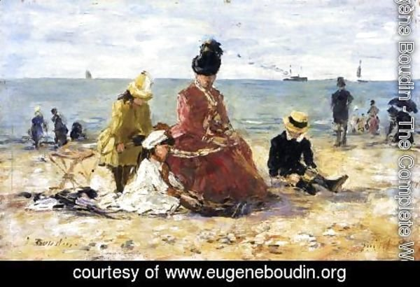 Eugène Boudin - On the Beach V