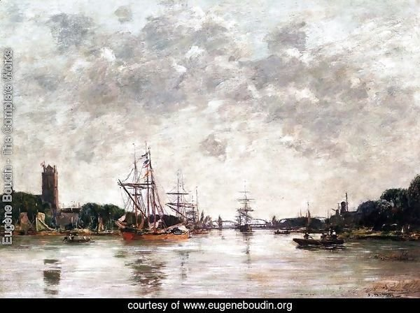 Dordrecht, Le Meuse, View of Swandrecht