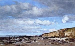Eugène Boudin - Trouville, Shore and Rocks
