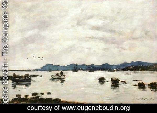 Eugène Boudin - The Bay and the Mountains of L'Esterel, Golfe-Juan