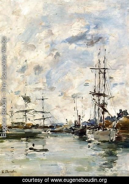Eugène Boudin - Deauville, the Harbor X