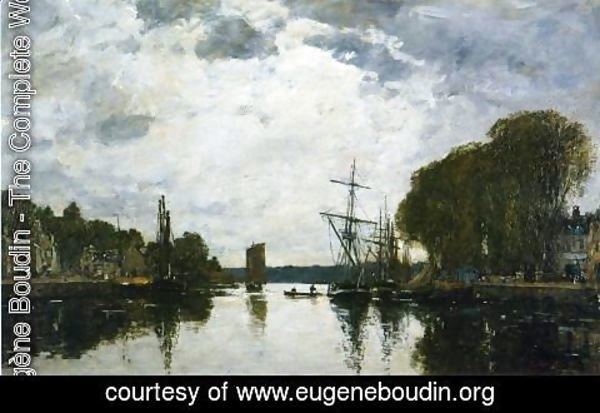 Eugène Boudin - The Port of Landerneau - Finistere