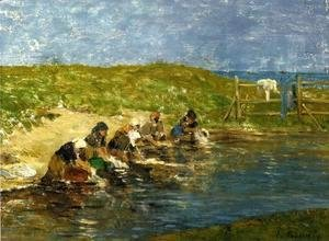 Eugène Boudin - Laundresses by the Sea