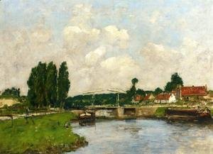Eugène Boudin - The Lock at Saint-Valery-sur-Somme