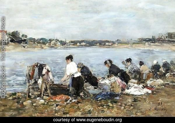Laundresses on the Banks of the Touques 3