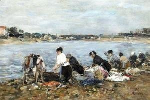 Eugène Boudin - Laundresses on the Banks of the Touques 3