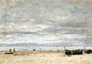 Eugène Boudin - Berck, The Beach at Low Tide I