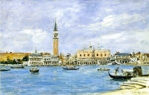 Eugène Boudin - Venice, the Campanile, the Ducal Palace and the Piazzetta, View from San Giorgio