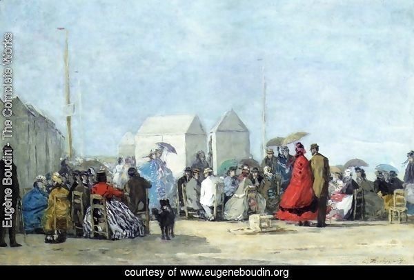 Beach Scene at Trouville I