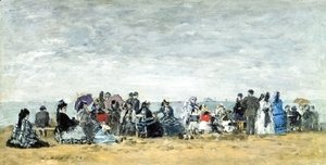 Eugène Boudin - Beach Scene at Trouville II
