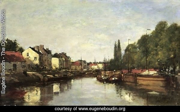 Brussels, the Louvain Canal