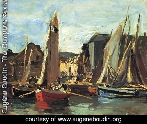 Eugène Boudin - The Entrance to the Port of Honfleur