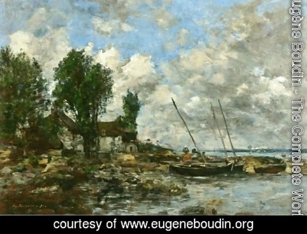 Eugène Boudin - The Shore at Plougastel I