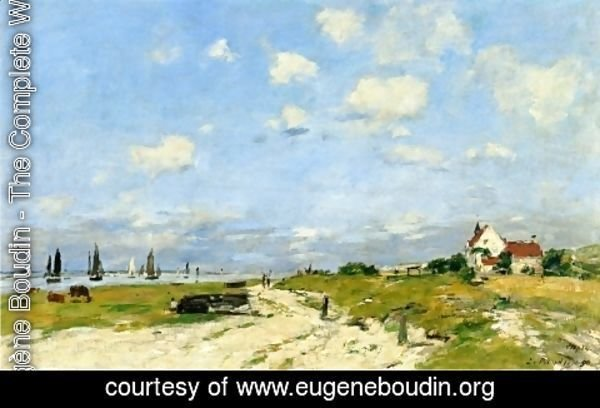 Eugène Boudin - The Dunes at Etaples