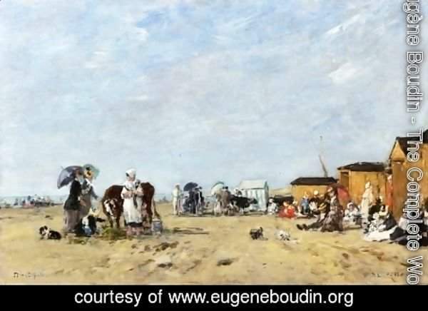 Eugène Boudin - Berck, the Beach