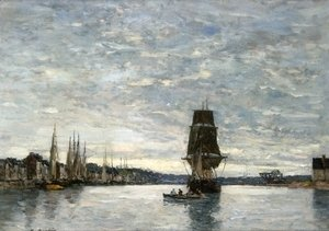 Eugène Boudin - View of the Harbor at Trouville