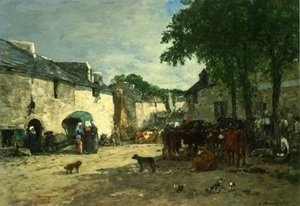 Cattle Market at Daoulas, Brittany