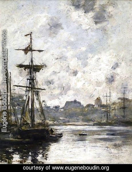Eugène Boudin - The Port, Fecamp