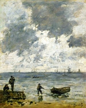 Eugène Boudin - Le Havre, The Sea at Sunset