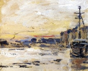 Eugène Boudin - Port at Low Tide I