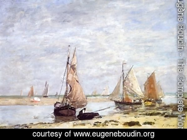 Eugène Boudin - Sailboats near Trouville