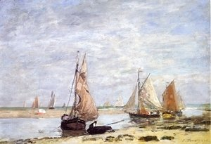 Sailboats near Trouville