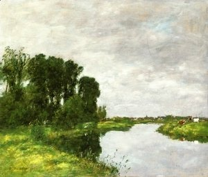 Eugène Boudin - The Toques at Saint-Arnoult II
