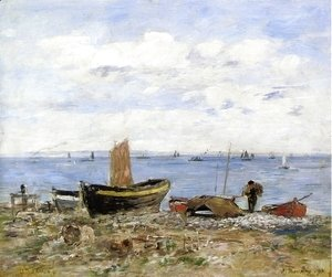 Eugène Boudin - Shore at Sainte-Adresse, Low Tide