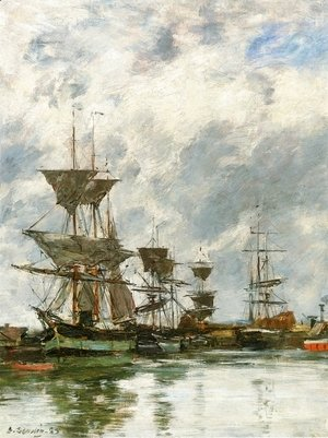Eugène Boudin - Trouville, the Port V