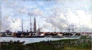 Eugène Boudin - The Port of Antwerp