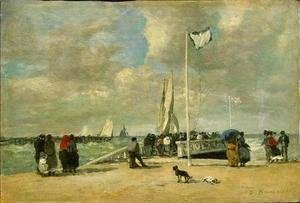 Eugène Boudin - On The Jetty