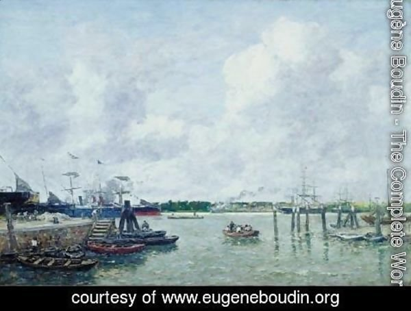 Eugène Boudin - Port of Rotterdam
