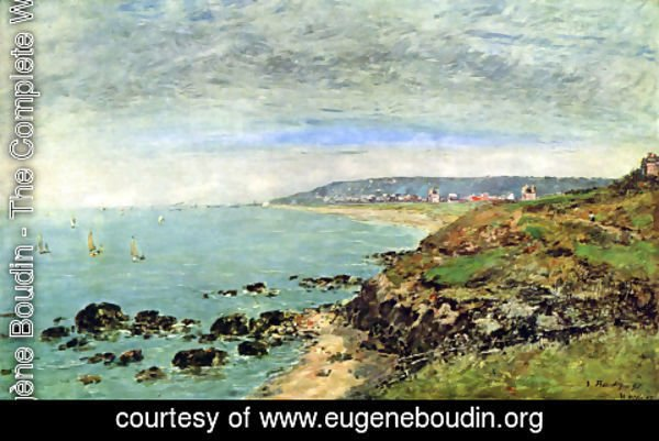 Eugène Boudin - Atlantic coast at Bénerville