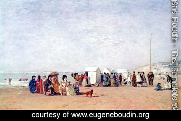 Eugène Boudin - Beach of Trouville