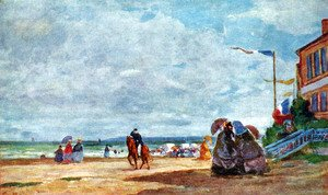 Eugène Boudin - Beach of Trouville 2