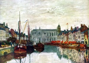 Eugène Boudin - Channel in Bruxelles