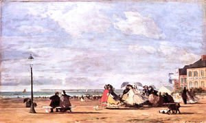 Eugène Boudin - Empress Eugenie at beach at Trouville