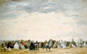 Eugène Boudin - The Beach at Trouville 10