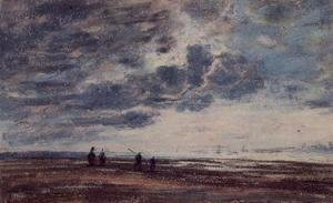 Eugène Boudin - The Beach 2