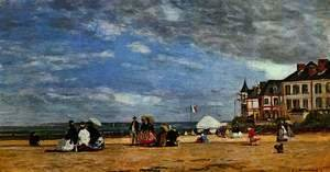 Eugène Boudin - The beach at Trouville 2