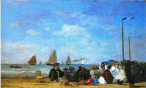 Beach Scene Trouville 1863