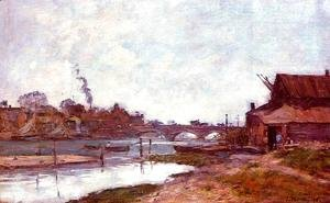 Bridge on the River Touques at Deauville 1895