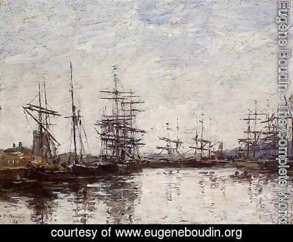 Eugène Boudin - Deauville the Basin 1880