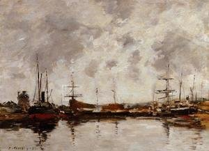 Eugène Boudin - Deauville the Basin 1885