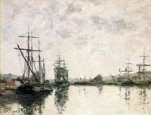 Eugène Boudin - Deauville the Basin 1890