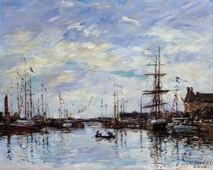Eugène Boudin - Deauville the Basin 1892